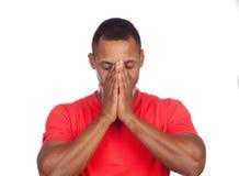 Uomo latino preoccupato Fotografia Stock Libera da Diritti