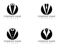 Uomo Logo Symbols Black Icons Template dello smoking Fotografie Stock