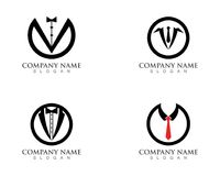 Uomo Logo Symbols Black Icons Template dello smoking Royalty Illustrazione gratis