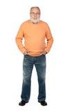Uomo maggiore con capelli hoary Fotografia Stock Libera da Diritti