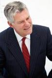 Uomo maggiore di affari nella riunione Immagine Stock