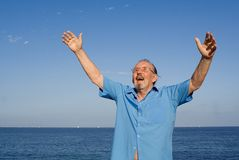 Uomo maggiore felice Immagine Stock Libera da Diritti