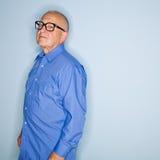 Uomo maggiore in occhiali Fotografia Stock Libera da Diritti