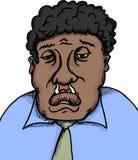 Uomo malato con il naso semiliquido Fotografia Stock