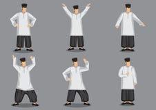 Uomo malese nel vettore tradizionale Illustr di progettazione di carattere del costume Immagine Stock
