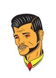 Uomo maschile dei capelli della pomata Fotografia Stock