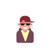 Uomo maschio dell'avatar dell'icona di profilo, fumetto Guy Beard Portrait, persona casuale dei pantaloni a vita bassa Fotografia Stock Libera da Diritti