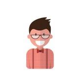 Uomo maschio dell'avatar dell'icona di profilo, fumetto Guy Beard Portrait, persona casuale dei pantaloni a vita bassa Fotografia Stock