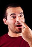 Uomo maschio divertente Fotografia Stock Libera da Diritti