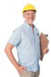 Uomo maturo della costruzione Fotografia Stock