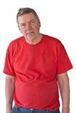 Uomo maturo turbato Fotografia Stock