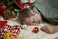 Uomo maturo ubriaco Fotografia Stock