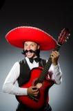 Uomo messicano con la chitarra Fotografia Stock