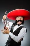 Uomo messicano con la chitarra Immagine Stock