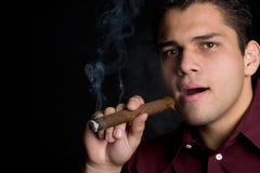 Uomo messicano del sigaro Fotografia Stock