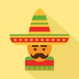 Uomo messicano in sombrero Immagini Stock Libere da Diritti