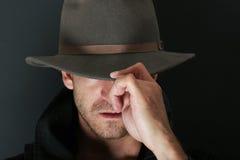 Uomo misterioso Immagini Stock Libere da Diritti