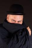 Uomo misterioso Fotografia Stock