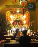 Uomo Mo Temple in Sheung pallido, Hong Kong Immagine Stock