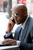 Uomo moderno di affari Fotografie Stock