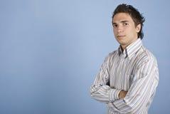 Uomo moderno di affari con l'acconciatura fredda Fotografia Stock