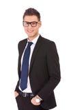 Uomo moderno sicuro di affari Fotografie Stock