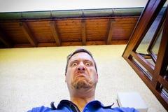 Uomo molto arrabbiato Fotografie Stock