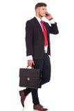 Uomo molto occupato di affari Fotografia Stock Libera da Diritti