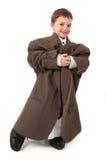 Uomo molto piccolo bello di affari Immagini Stock Libere da Diritti