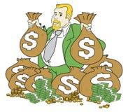 Uomo molto ricco Immagine Stock
