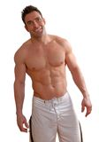 Uomo muscolare Fotografia Stock