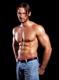 Uomo muscolare Immagini Stock Libere da Diritti