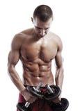 Uomo muscolare Fotografia Stock Libera da Diritti