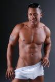Uomo muscolare sexy. Fotografie Stock Libere da Diritti