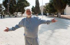 Uomo musulmano ferito Fotografie Stock Libere da Diritti