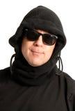Uomo nel nero fotografia stock libera da diritti