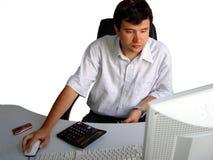 Uomo nel suo ufficio Fotografia Stock