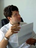 Uomo nel suo ufficio Fotografie Stock