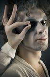 Uomo nel trucco Immagini Stock