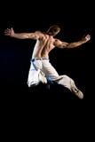 Uomo nell'aria - salto Fotografia Stock Libera da Diritti