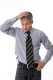 Uomo nell'incredulità Fotografia Stock Libera da Diritti
