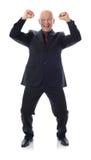 Uomo nella conquista del vestito Fotografie Stock Libere da Diritti