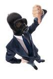 Uomo nella mascherina Fotografia Stock