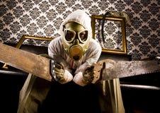 Uomo nella mascherina Immagine Stock