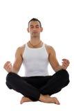 Uomo nella meditazione immagini stock libere da diritti