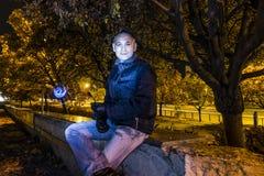 Uomo nella notte Fotografia Stock Libera da Diritti