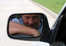 Uomo nello specchio Fotografia Stock Libera da Diritti