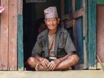 Uomo nepalese anziano immagine stock libera da diritti