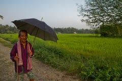 Uomo nepalese anziano, Chitwan, Nepal Fotografie Stock Libere da Diritti