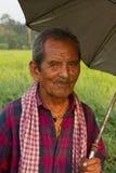 Uomo nepalese anziano, Chitwan, Nepal Fotografia Stock